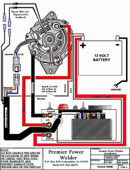 Premier Power Welder Installation Diagram